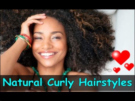 cute hairstyles for natural curly hair for black women