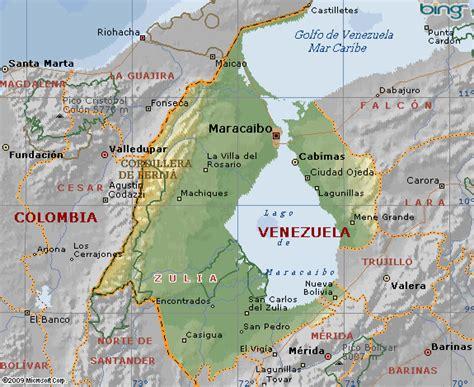 imagenes estado zulia venezuela mapa del estado de zulia en venezuela