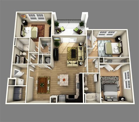 3d 3 bedroom house plans 3d open floor plan 3 bedroom 2 bathroom search