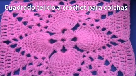 imagenes cubrecama tejidas a crochet cuadrado o cuadro a crochet en punto pi 241 itas paso a paso