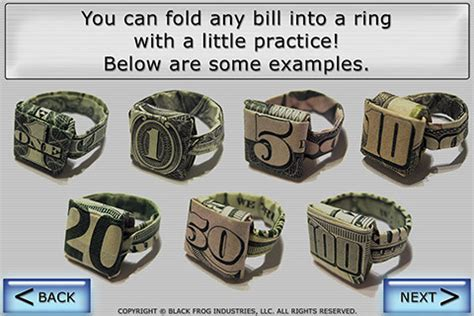 How To Make A Paper Ring - money origami ring image search results