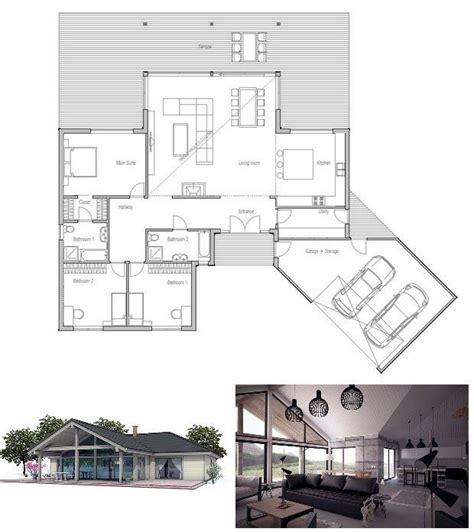 wide lot floor plans modern small house plan abundance of natural light