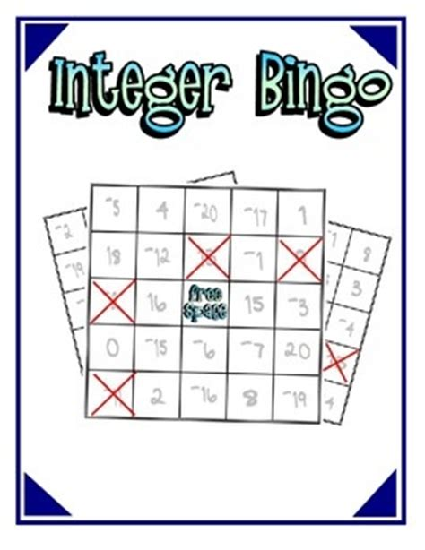 46 best images about integers on pinterest | review games