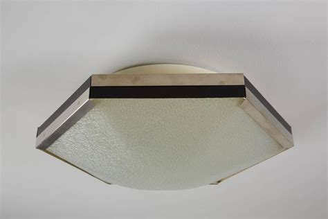 Hexagon Ceiling Light Hexagon Ceiling Light Hexagon Brass Flush Mount Ceiling Light Fixture With Bowed Glass Panels