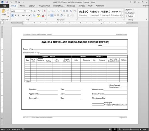 travel expense report template volunteer in excel format infinite