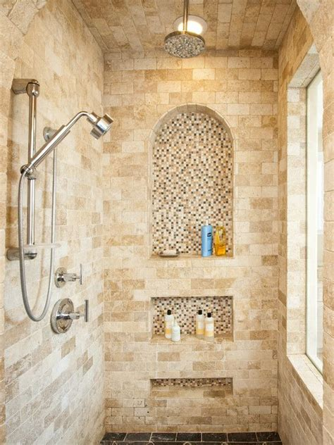 Bathroom Shower Niche Ideas 25 Best Ideas About Travertine Shower On Travertine Bathroom Cottage Neutral
