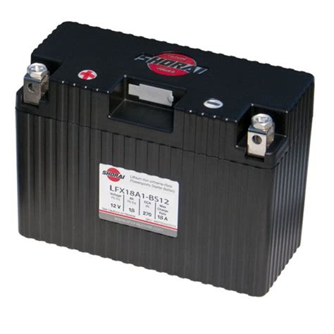 Motorrad Batterie Gewicht lfx18a1 bs12 shorai lithium ultra low weight powersports