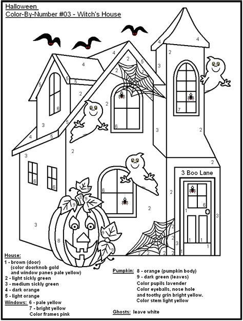 halloween coloring pages numbers 8 best images of halloween color by number printables