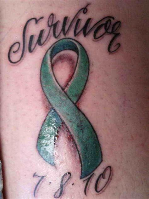 cancer ribbon tattoo design ovarian cancer symbol tattoos 5 designs