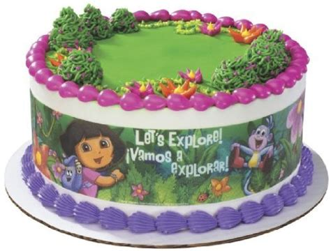 edible cake decorations commercial cake decorations lucks lucks edible image dora the explorer designer prints cake