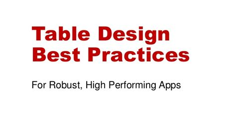 form design best practices 2015 table and database design best practices caspio online help