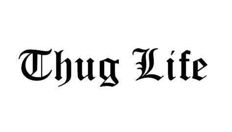 tattoo png text thug life png images transparent hat glasses cigarette