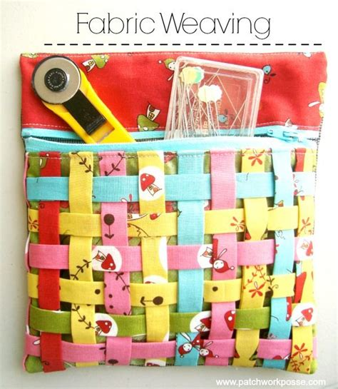 50 Bag Tutorials Patchwork Posse Easy Sewing Projects - best 25 fabric weaving ideas on diy woven