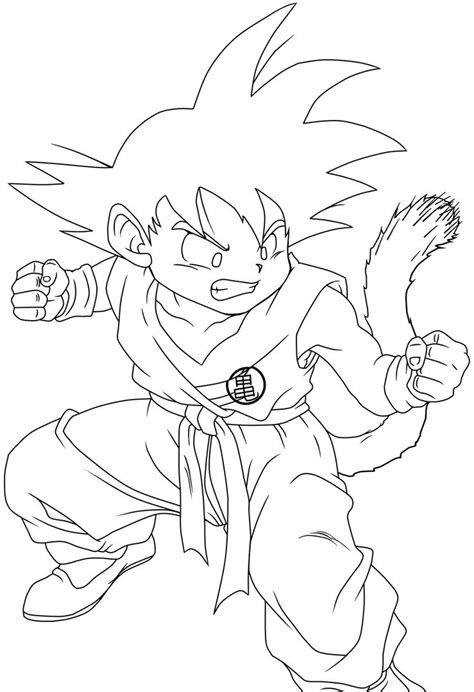 young goku coloring pages young goku lineart by ruokdbz98 on deviantart
