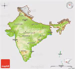 3d map of physical 3d map of india cropped outside