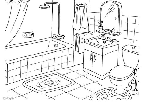 malvorlagen badezimmer dibujo para colorear cuarto de ba 241 o img 25994