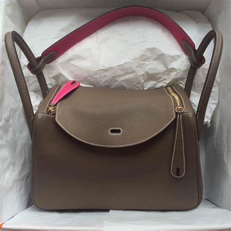 Hermes Lindy Togo stitching hermes lindy bag 30cm etoupe grey tyrien togo leather s handbag