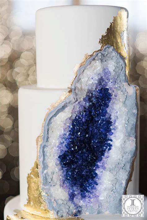 Wedding Cake Rock by Jamillah S Jems 10 Gorgeous Geode Wedding Cakes That Will