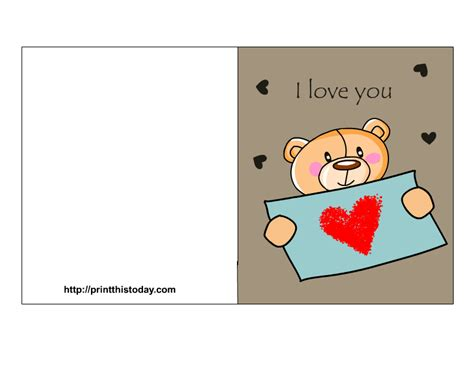 printable birthday cards for him romantic 7 best images of free printable love cards i love you