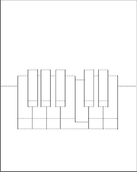 Piano Keyboard Pop Up Card Template by Pop Up Piano Card Template Pop Up Cards