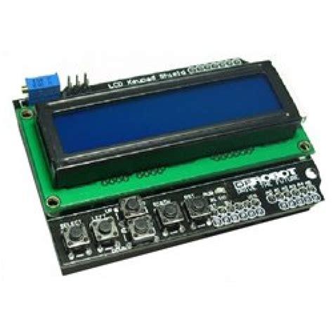 Lcd 16x2 Blue Backlight Biru dfr lcd keypad shield