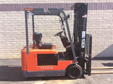 toyota fbe  lbs electric forklift cushion tires side shift