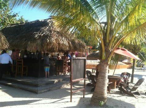 Tiki Hut Jamaica Tiki Hut Bar Near Stewfish Picture Of Beaches