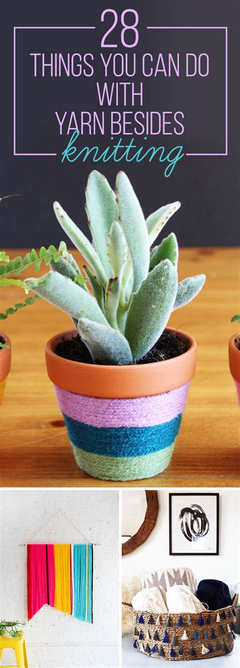 things to do with yarn besides knit 28 things you can do with yarn besides knitting how to