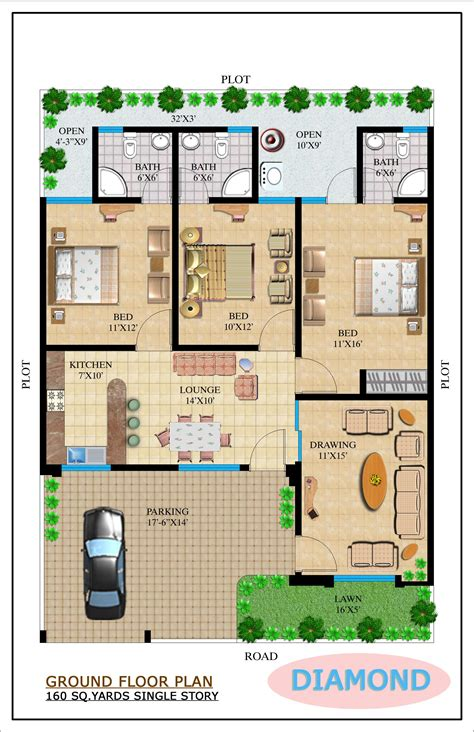 home design 100 sq yard 160 yards house plan house design plans