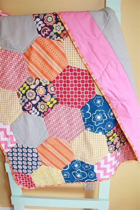 Hexagon Patchwork Blanket - 39 best images about half hexagon quilt ideas for msqc