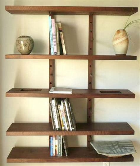 Wall Shelf System by Thru Block Wall Mounted Modular Shelving System Large 4