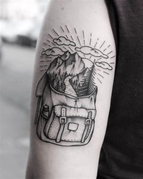 backpacker tattoo best 25 hiking ideas on