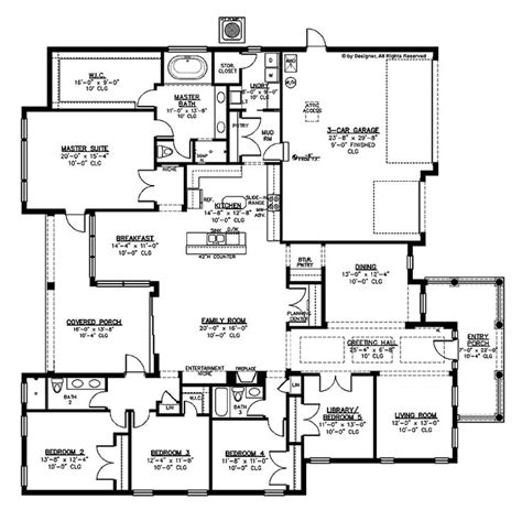 large one story house plan big kitchen with walk in 25 best ideas about large house plans on pinterest