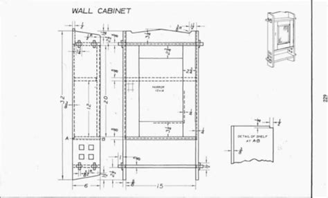 plate  wall cabinet mechanical drawing