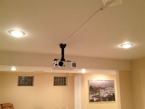 how to ceiling mount a home theater projector