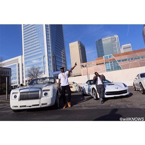 meek mill bentley meek mill poses with a rolls royce and corvette