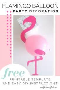 diy flamingo party balloons flicker flock