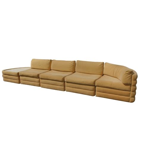 5 milo baughman thayer coggin sectional sofa