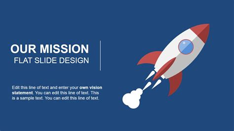 Our Mission Flat Slide Design for PowerPoint   SlideModel