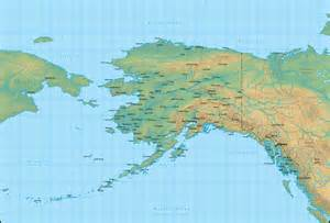 Map Alaska by Map Of Alaska And The Surrounding Region