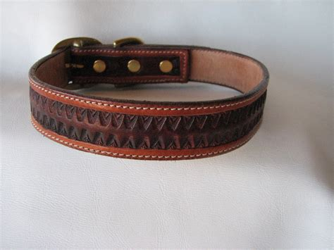 custom leather collars custom tooled leather collar