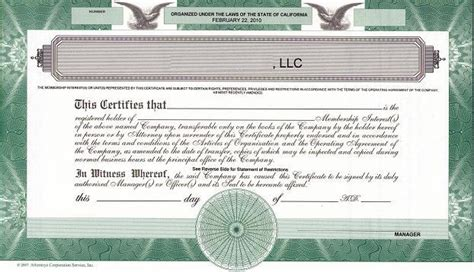 Should We Issue Llc Membership Certificates The High Touch Legal Services 174 Blog For Llc Member Certificate Template