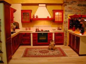 Red Kitchen Decorative Accessories Pictures Of Red Kitchen Cabinets Interior Design