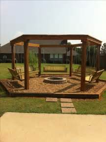 Fire Pit Swing by Outdoor Fire Pit With Swings Outdoor Firepit Pinterest