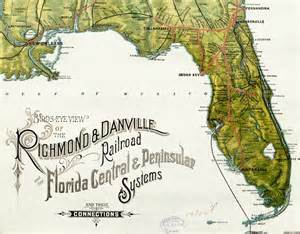 florida railroad map rail road map of florida 1893