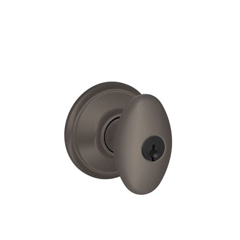Rubbed Bronze Egg Shaped Door Knobs by Shop Schlage F Siena Rubbed Bronze Egg Keyed Entry