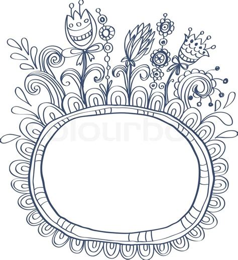 doodle flower border doodle border flower doodle frame with birds and tattoos