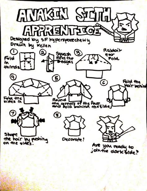 How To Make Origami Anakin Skywalker - search results origami yoda page 6