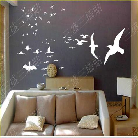 true home decor aliexpress com buy 2016 real sale flying birds wall
