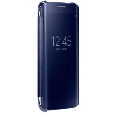 Clear View Samsung S7 Edge Original Blue Topaz official samsung galaxy s6 edge clear view cover